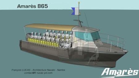 amares.fr, Amarès 865, bateau aluminium de plaisance