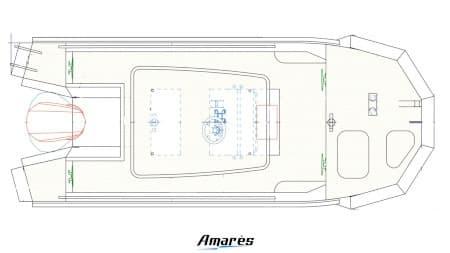 amares.fr, Amatug 550, bateau aluminium professionnel