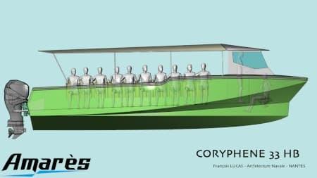 amares.fr, Coryphène 33, bateau aluminium de plaisance transport et servitude