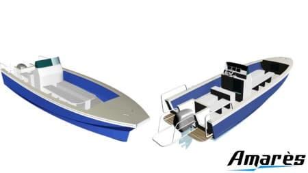 amares.fr, Coryphène 760, bateau aluminium