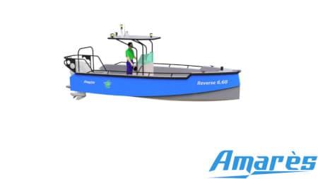 amares.fr, Reverse 6.60, bateau aluminium, plaisance et professionnels