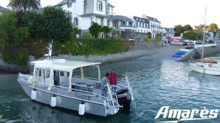 amares.fr, Térénez 8.80 Cabine, bateau aluminium, plaisance et plongée sous-marine