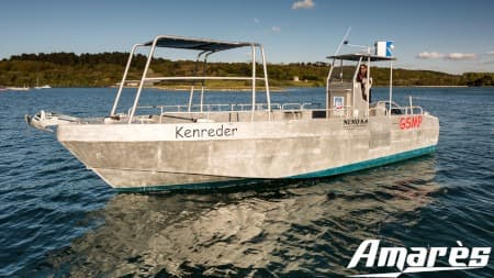 amares.fr, Térénez 8.80, bateau aluminium, plaisance et plongée sous-marine